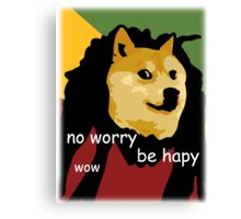 Bob Marley Doge (Transparent Edges) Canvas Print