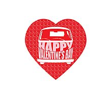 Valentine's Day VW Camper Bay Photographic Print