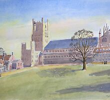 Ely Cathedral by Nick Clark by HurstPainters