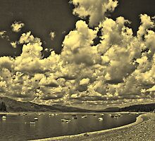 Cloud Parade Over Jackson Lake (B&W) II by Brenton Cooper