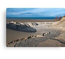 View on the North Sea beach Canvas Print