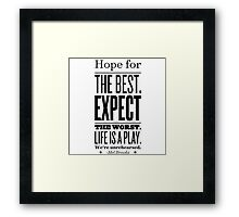 unrehearsed Framed Print