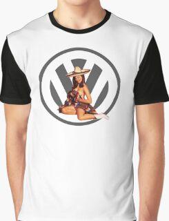 Volkswagen Pin-Up Senorita (gray) Graphic T-Shirt