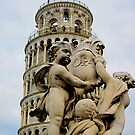 Leaning tower of Pisa and Cherubs, Tuscany, Italy by buttonpresser