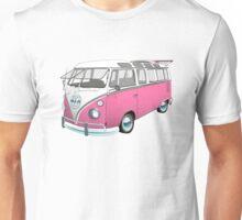 21 Window Volkswagen Bus... but PINK! Unisex T-Shirt