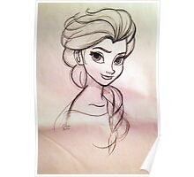 Frozen Elsa - concept art sketch  Poster