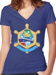 KAPP'N CRUISES Women's Fitted V-Neck T-Shirt