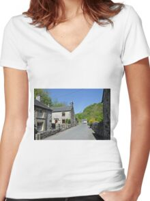Cottages at Milldale Women's Fitted V-Neck T-Shirt