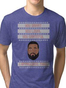 DJ Khaled Christmas Sweater Tri-blend T-Shirt