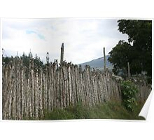Farmers Fence in Cotacachi Poster
