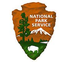 National Park Service Shaded Logo Photographic Print