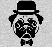 Pug in Bowler Hat and Bow Tie by AiReal Apparel Unisex T-Shirt