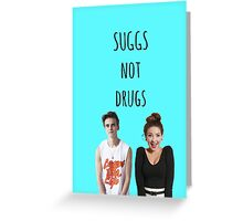 Suggs Not Drugs - Blue Greeting Card