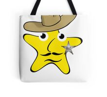 Sheriff Star Cartoon Tote Bag