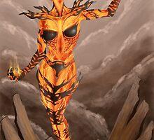 Fire Atronach - Skyrim by Gabie666