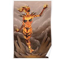 Fire Atronach - Skyrim Poster