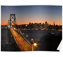 San Francisco twilight  Poster