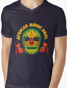 AFRICAN MUSIC SOUL Mens V-Neck T-Shirt