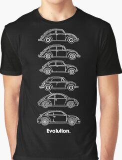 Evolution of the Volkswagen Beetle - for dark tees Graphic T-Shirt