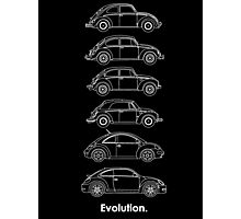 Evolution of the Volkswagen Beetle - for dark tees Photographic Print