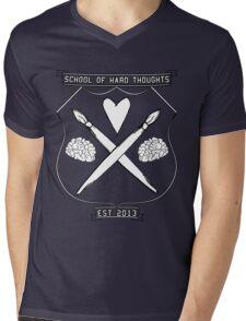 School Of Hard Thoughts Mens V-Neck T-Shirt