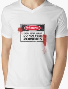 Zombie Warning! Mens V-Neck T-Shirt