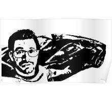 Tai Lopez In His Garage Black & White Poster