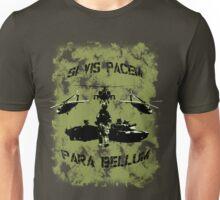 Si vis pacem para bellum USA oliv w. black font Unisex T-Shirt