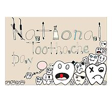 Toothache day Photographic Print