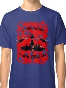 Si vis pacem para bellum USA red w. black font Classic T-Shirt