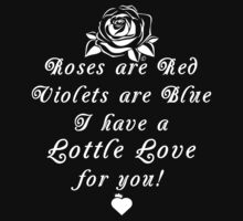 Roses are Red, Violets are Blue Lottle Love Black Kids Tee