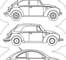 Evolution of the Volkswagen Beetle Sticker