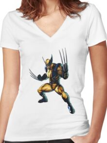 Wolverine-James Howlett- Logan Women's Fitted V-Neck T-Shirt