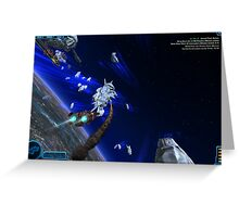 Space Battle Greeting Card