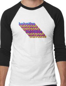 Helvetica  Men's Baseball ¾ T-Shirt