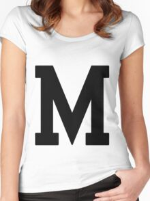 Letterman M Women's Fitted Scoop T-Shirt