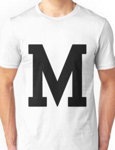 Letterman M Unisex T-Shirt