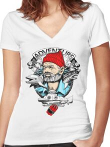 Adventure with Dynamite Women's Fitted V-Neck T-Shirt