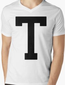 Letterman T Mens V-Neck T-Shirt