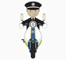 British Policeman on Scooter One Piece - Long Sleeve