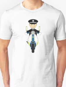 British Policeman on Scooter Unisex T-Shirt
