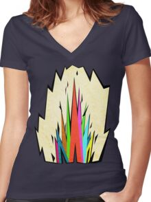 Ink Stone Women's Fitted V-Neck T-Shirt