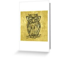 Spectacle Owl Greeting Card