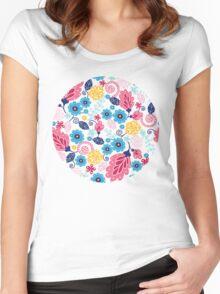 Fairytale flowers pattern Women's Fitted Scoop T-Shirt