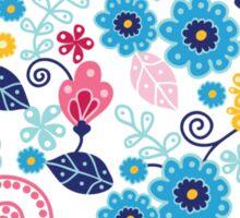 Fairytale flowers pattern Sticker