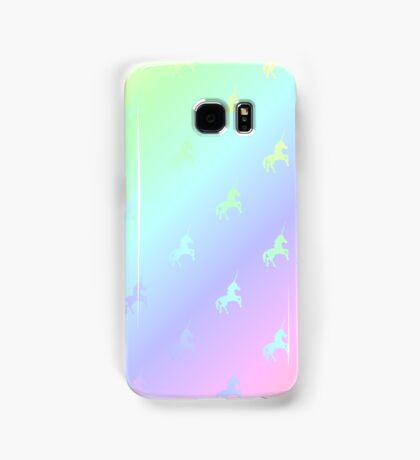 Pastel unicorn rainbow gradient Samsung Galaxy Case/Skin