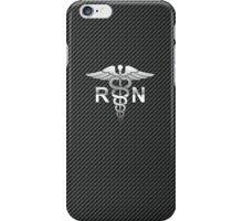 Registered Nurse Carbon iPhone Case/Skin