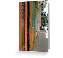 Colours of New Orleans Greeting Card