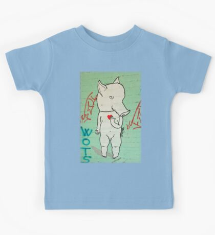 Naked Piggy PNG Kids Tee