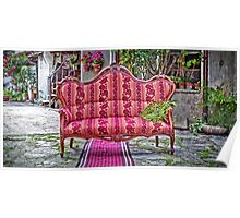 Sofa with fern Poster